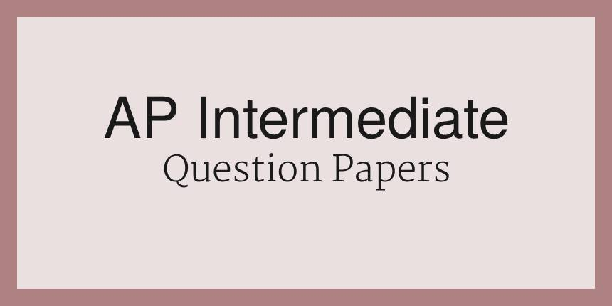 AP Intermediate Question Papers 2020