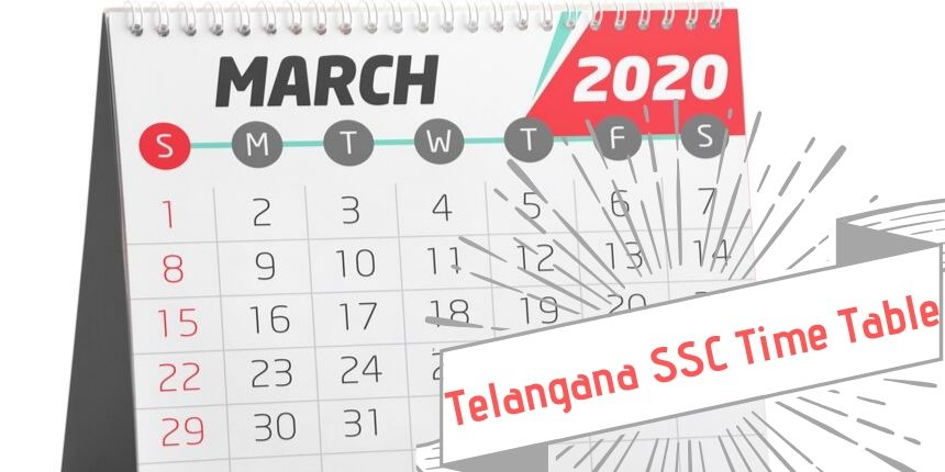 Telangana SSC Time Table 2020
