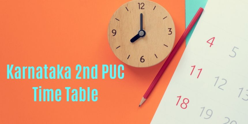 Karnataka 2nd PUC Time Table 2020