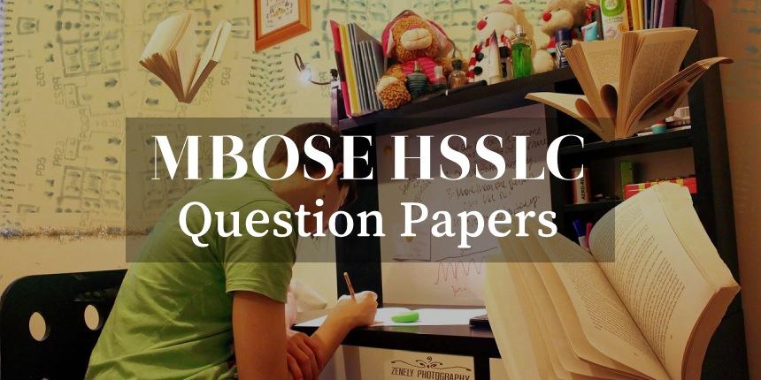 MBOSE HSSLC Question Papers 2020