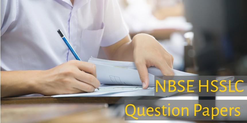 NBSE HSSLC Question Papers 2020