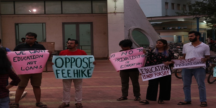 IIT students intensify protest against M.Tech fee hike