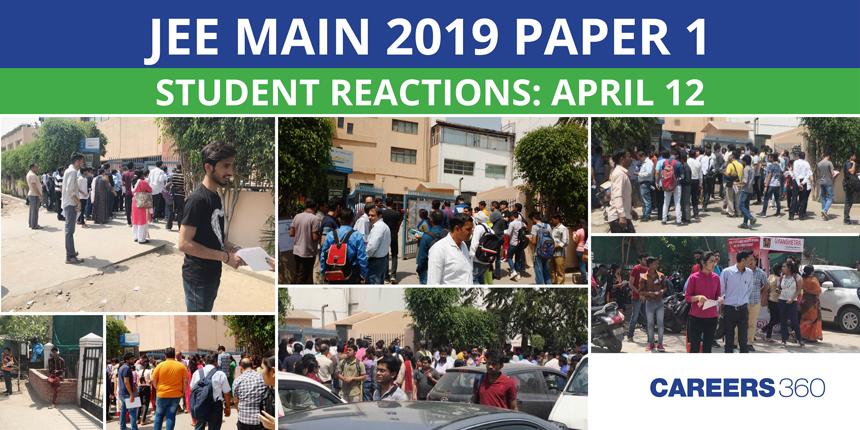 JEE Main 2019 Paper 1 Student Reactions: April 12