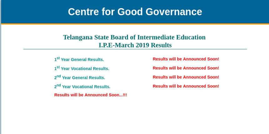 TSBIE to announce TS Inter Result 2019 tomorrow @results.cgg.gov.in