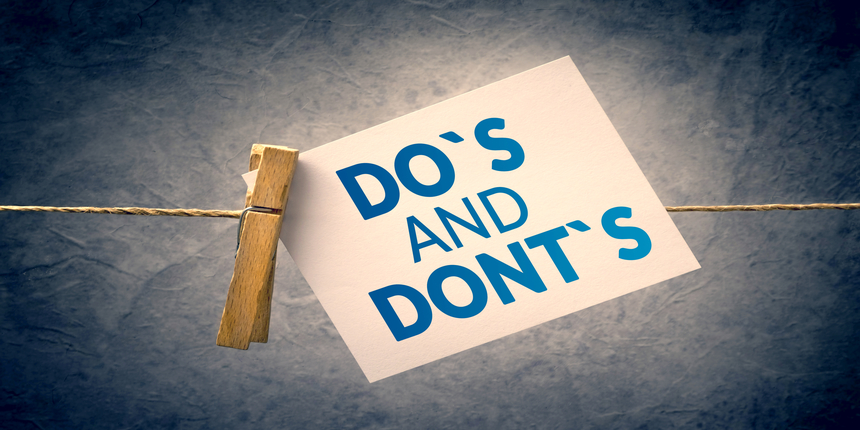 Dos and Don'ts for CLAT 2019