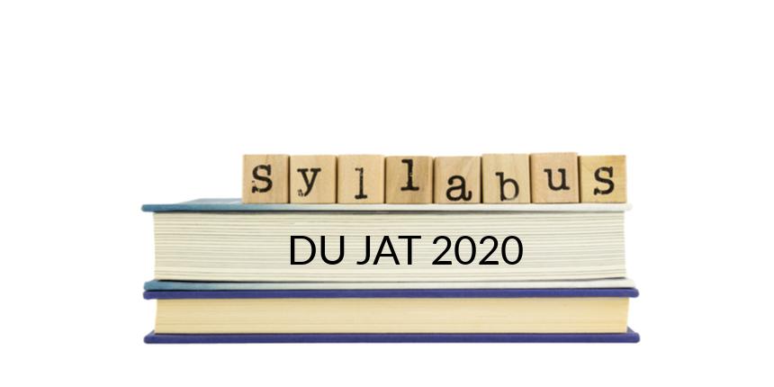 DU JAT Syllabus 2020