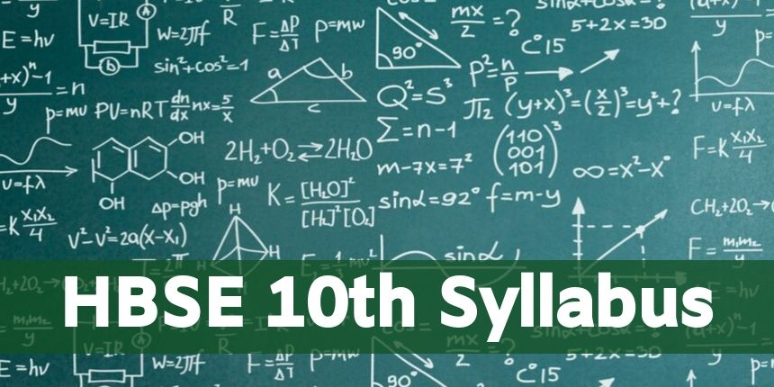 HBSE 10th Syllabus 2020