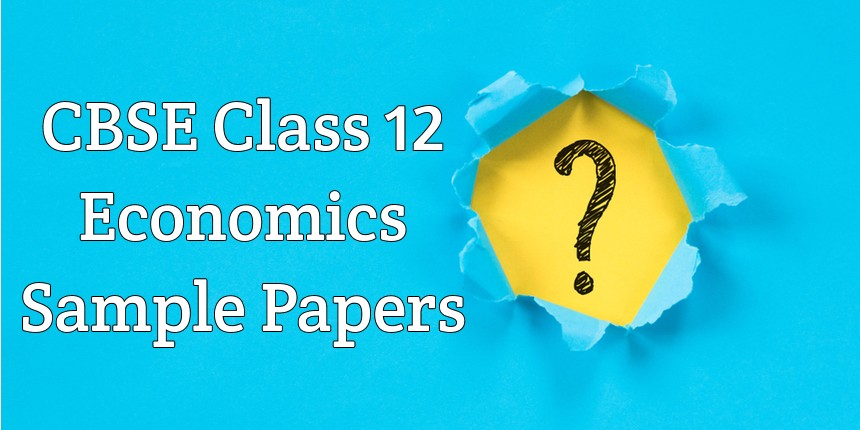 CBSE Class 12 Economics sample papers 2020
