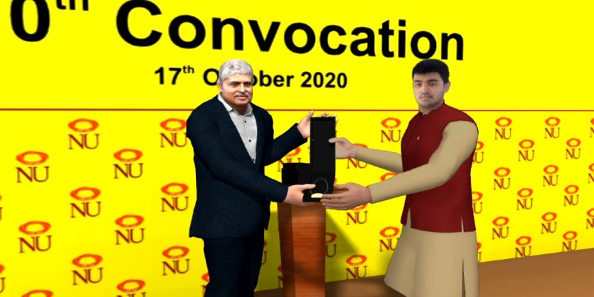 NIIT University holds 10th Convocation in Virtual Reality mode
