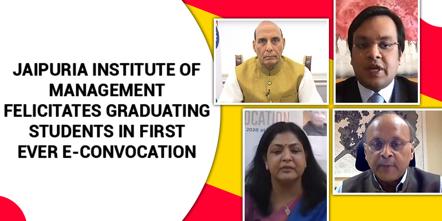 Jaipuria Institute of Management felicitates graduating students in first ever e-convocation
