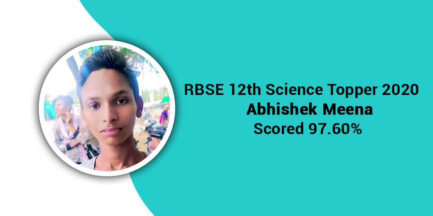 Abhishek Meena emerged as one of the RBSE 12th Science toppers with 97.60%