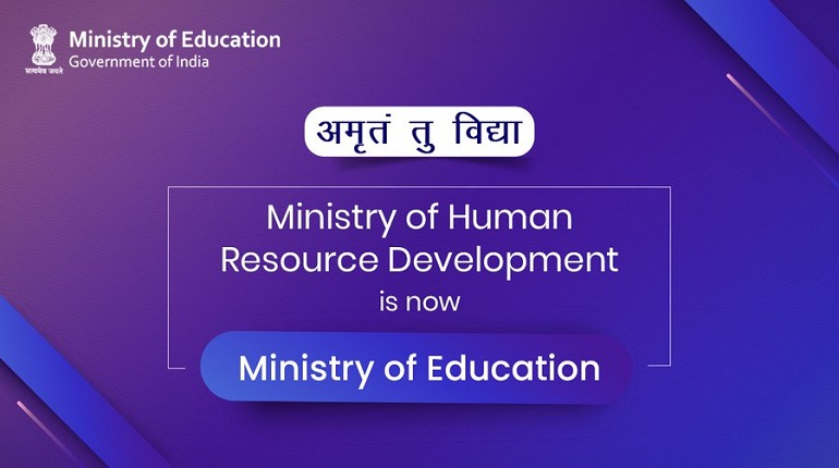 MHRD officially becomes Ministry of Education