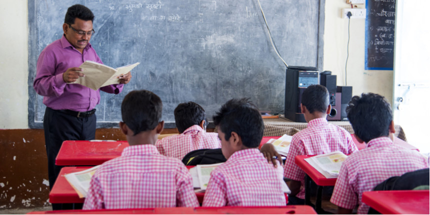 Walls used to teach maths to poor students in Maharashtra villages
