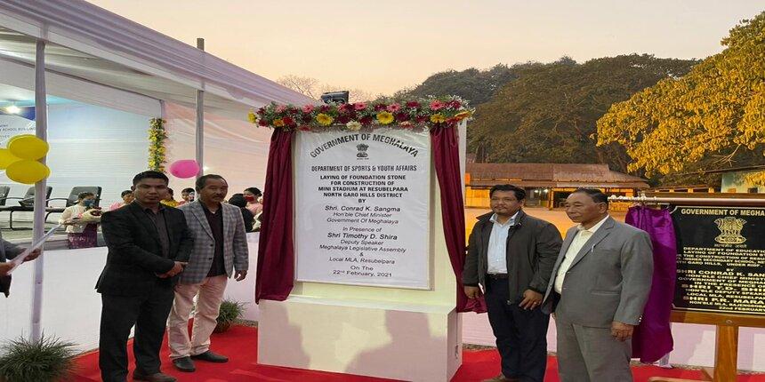 Meghalaya CM lays foundation of bridge, school & mini stadium