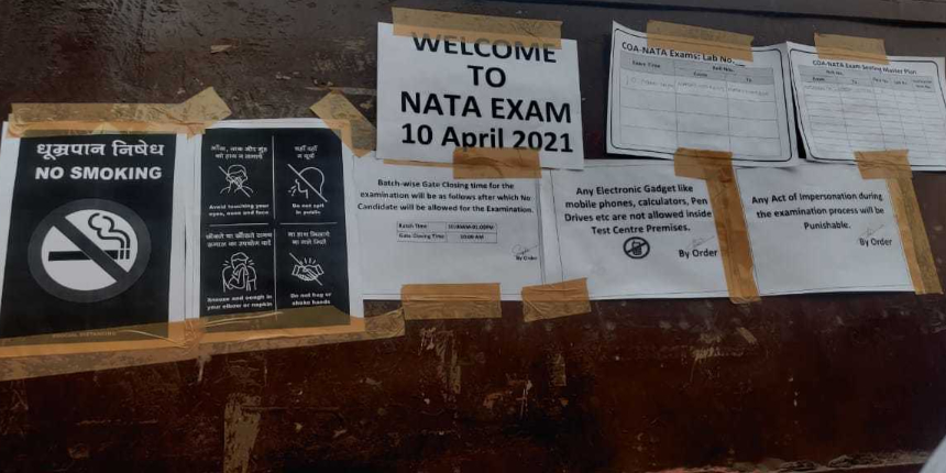 NATA 2021 test 1 starts; Know covid19 guidelines followed at exam centre