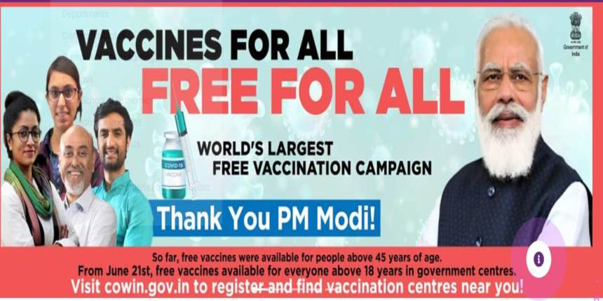 UGC asks universities, colleges to put up banners thanking PM for free vaccination