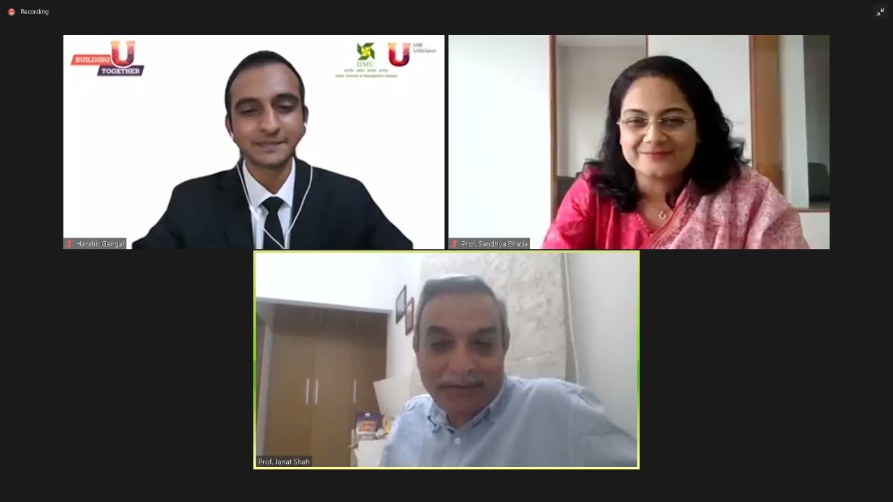 IIM Udaipur holds virtual engagement, learning program for new MBA batch