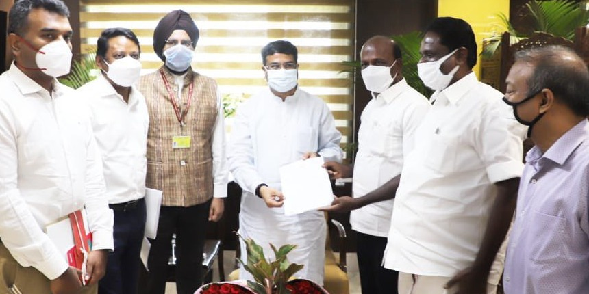NEET UG 2021: Dharmendra Pradhan meets the Minister of Health of Tamil Nadu and informs about new test cities