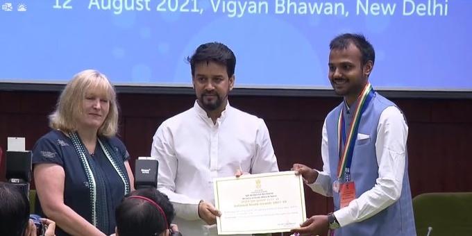 Dharmendra Pradhan congratulates Odisha's National Youth Award winner