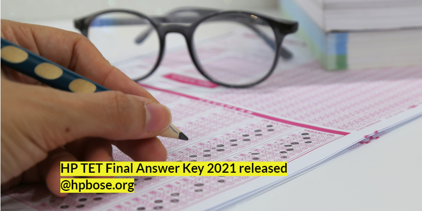 HPTET 2021 final answer released at @hpbose.org; Download link here