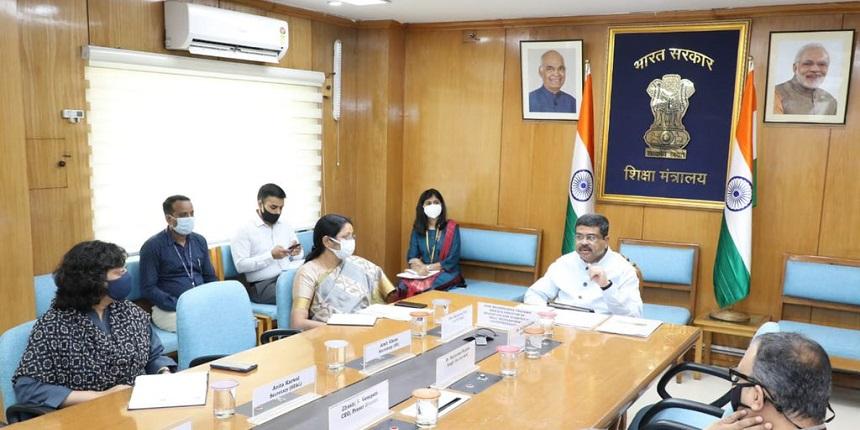Dharmendra Pradhan holds meeting on universalisation of quality education through digital education