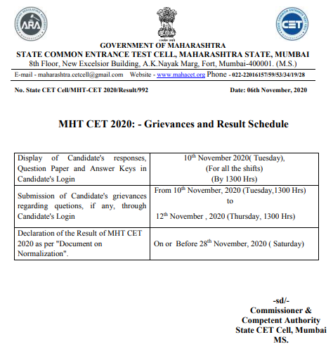 mht-cet-result-notification