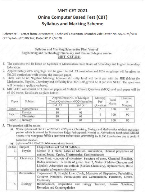 mht-cet-syllabus-notice