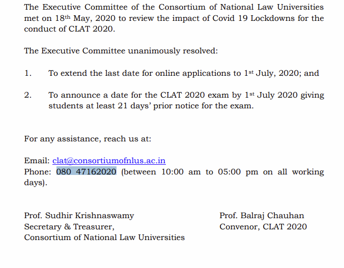 Notification_of_extension_CLAT_2020_pdf