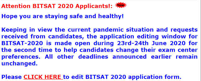 bitsat-news-screenshot