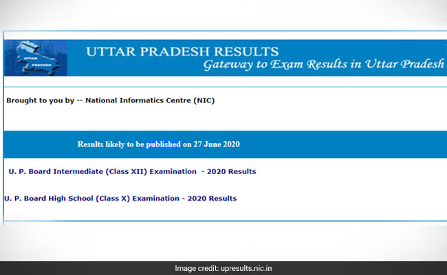 UP Board Result 2020: Uttar Pradesh Madhyamik Shiksha Parishad To Announce Class 10, 12 Result Today