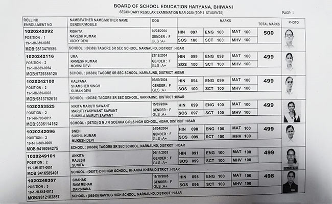 hbse, bseh, 10th result, haryana