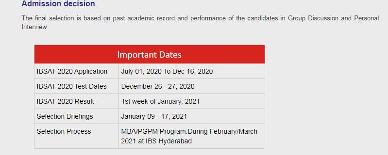 ibsat-2020-exam-dates