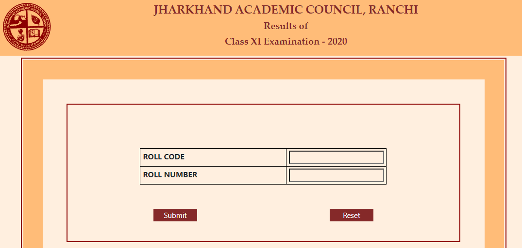 Jharkhand 11th result 2020 window image