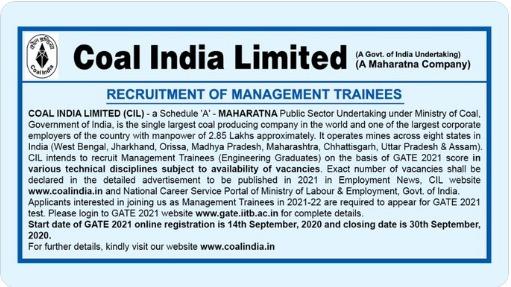 CIL-recruitment-through-gate-2021