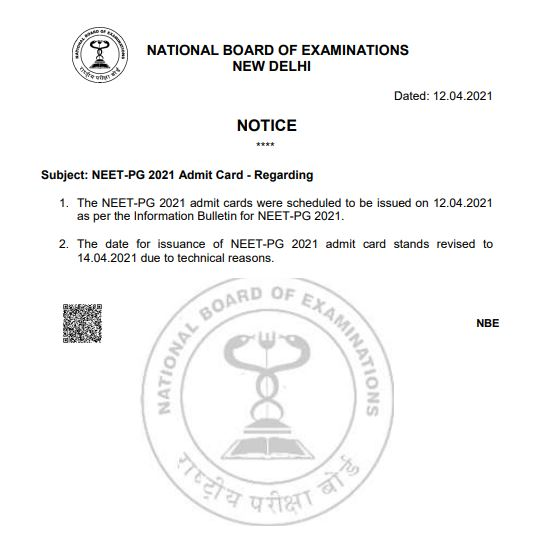 neet-pg-admit-card-release-date-revised