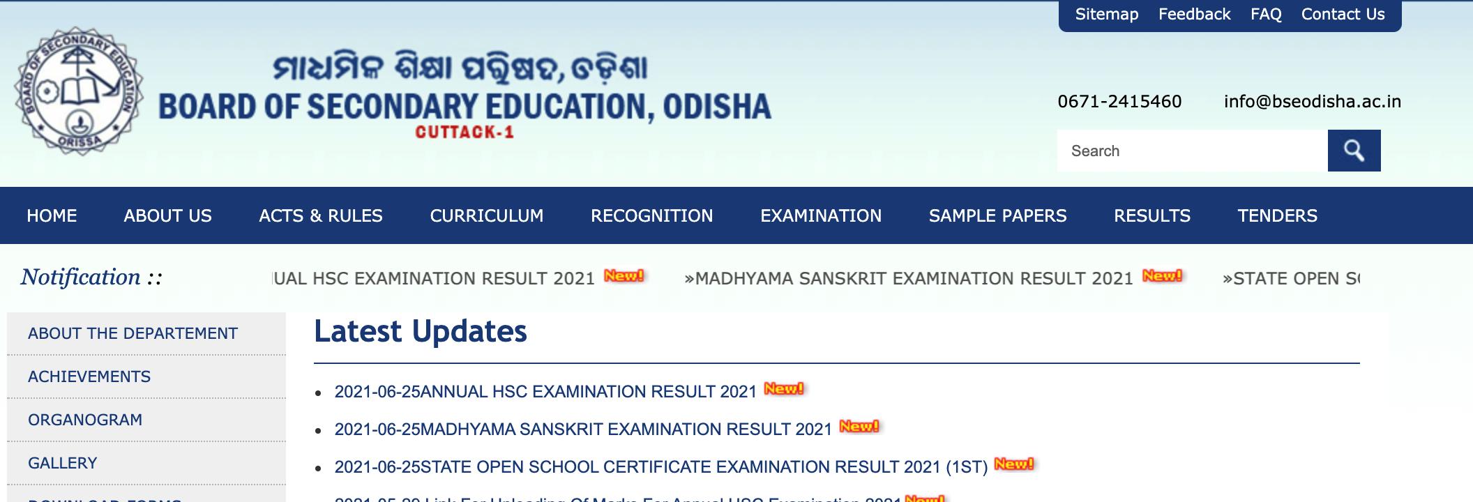 BSE Odisha HSC result 2021