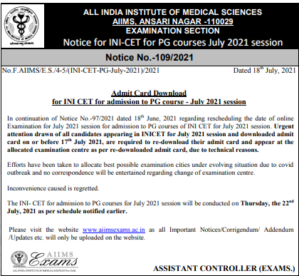 INICET-admit-card-download-notice