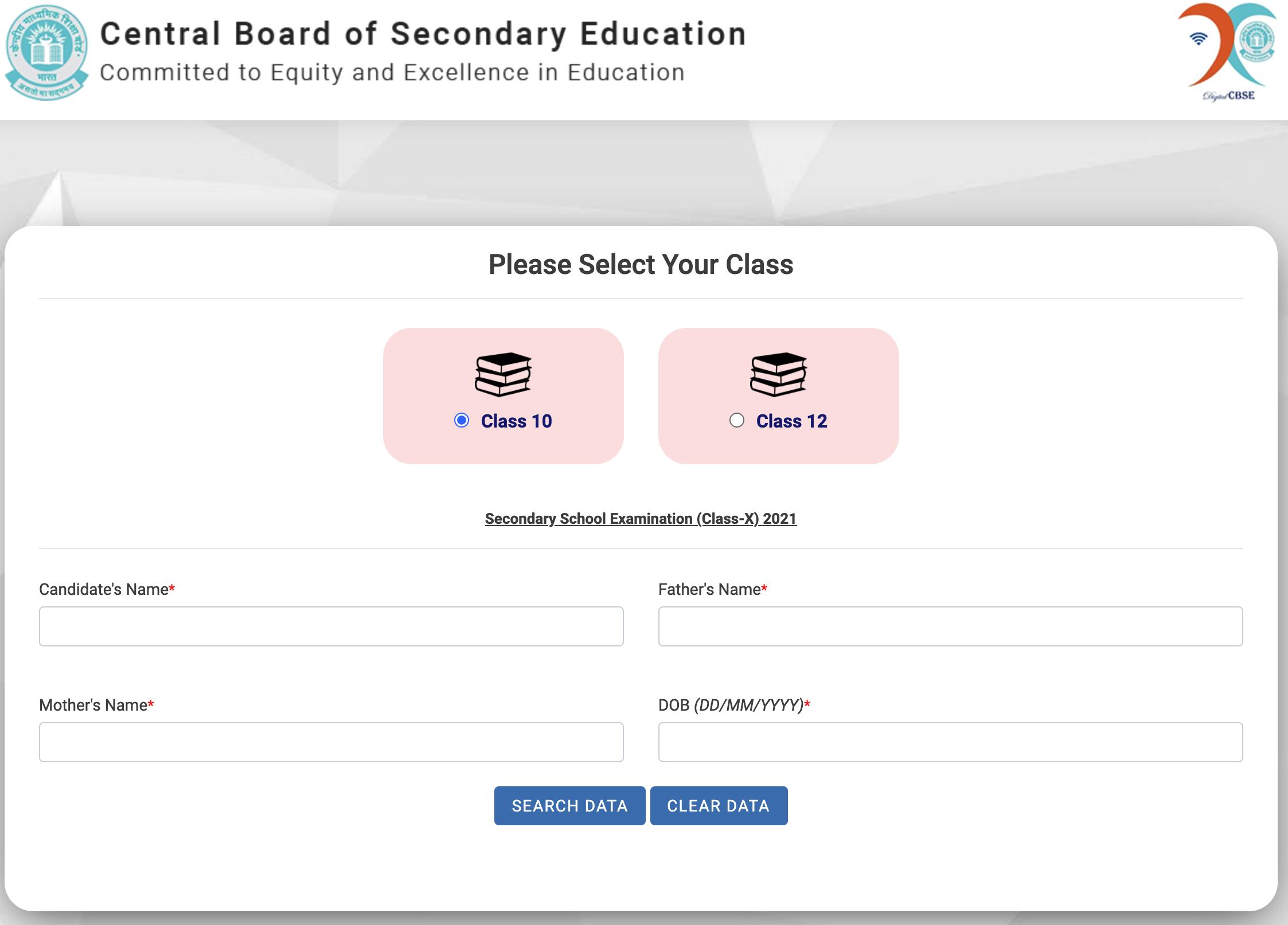 cbse result 2021