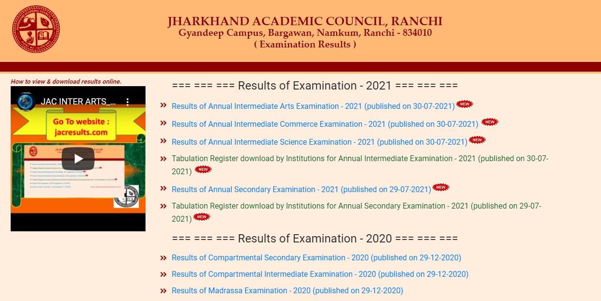jac inter result 2021