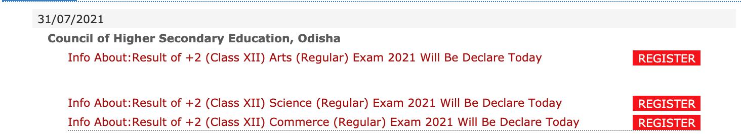 Odisha 12th result 2021