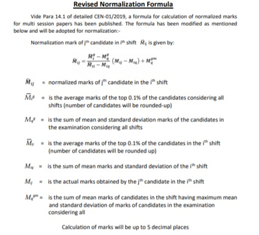 revised RRB NTPC result normalization