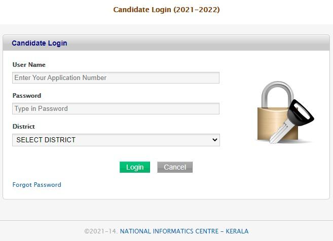hscap.kerala.gov.in trial allotment list