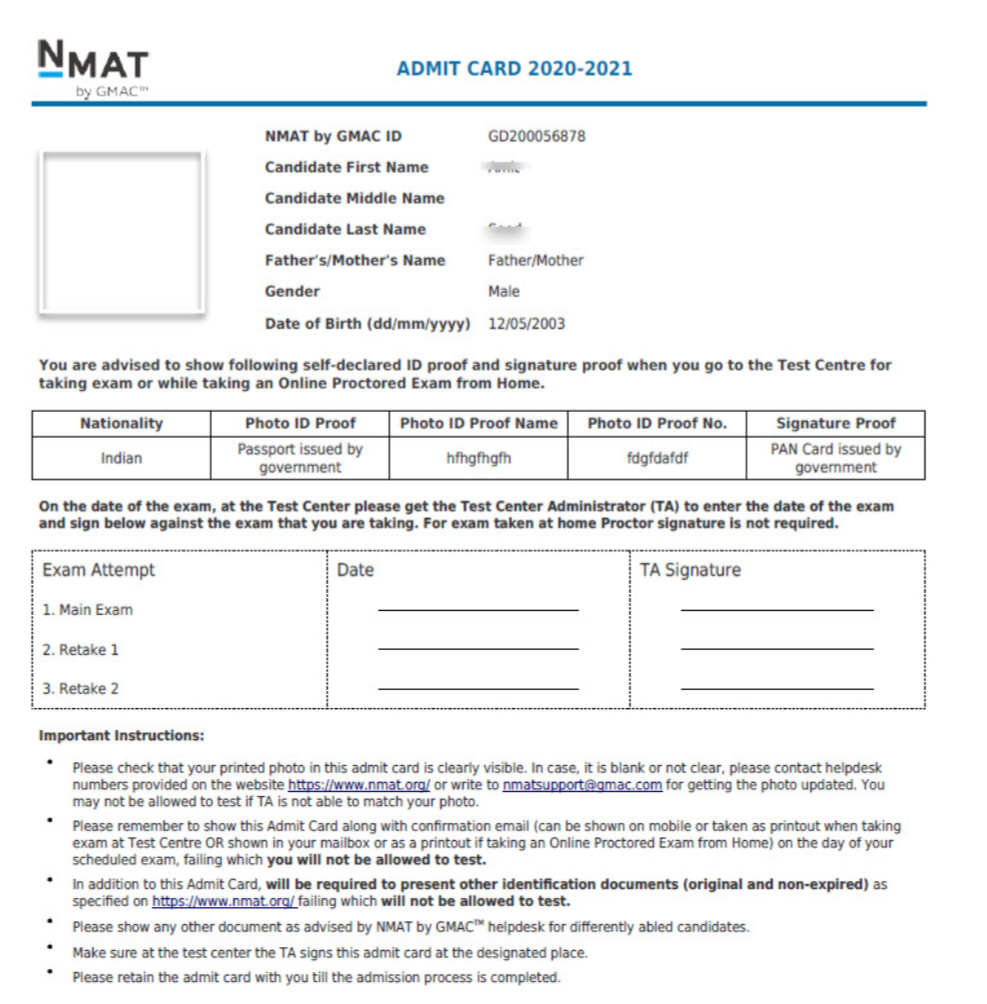 NMAT-admit-card-2020