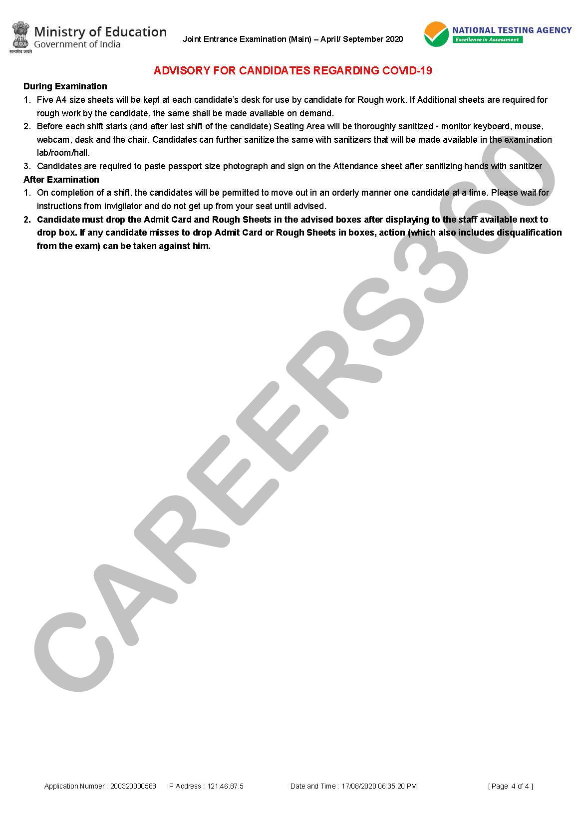 JEE Main 2020 Exam Guidelines-3