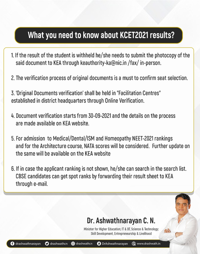 www.cetonline.karnataka.gov.in 2021 KCET result 2021