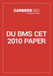 DU BMS CET 2010 Paper