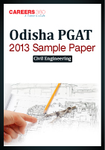 Odisha PGAT 2013 Sample Paper 1 Civil Engineering