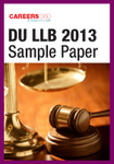 DU LLB Entrance Exam Question Paper 2013