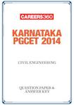 Karnataka PGCET 2014 Civil Engineering Question Paper & Answer Key