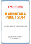 Karnataka PGCET 2014 Maths & Computer Science Question Paper & Answer Key